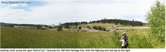 View from site to highway and Heritage Site